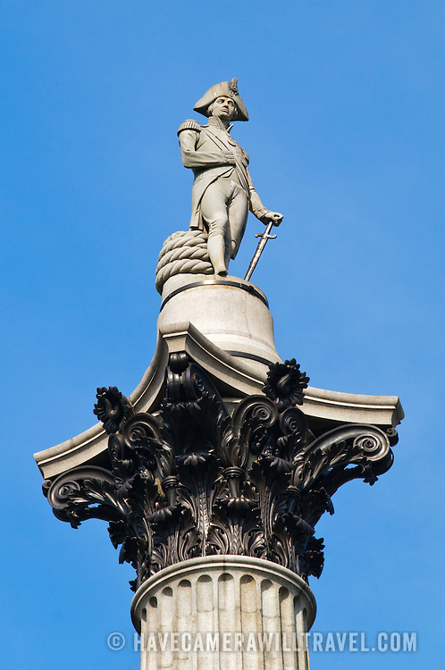 Statue of Horatio Nelson (Nelson's Column) in Trafalgar Square