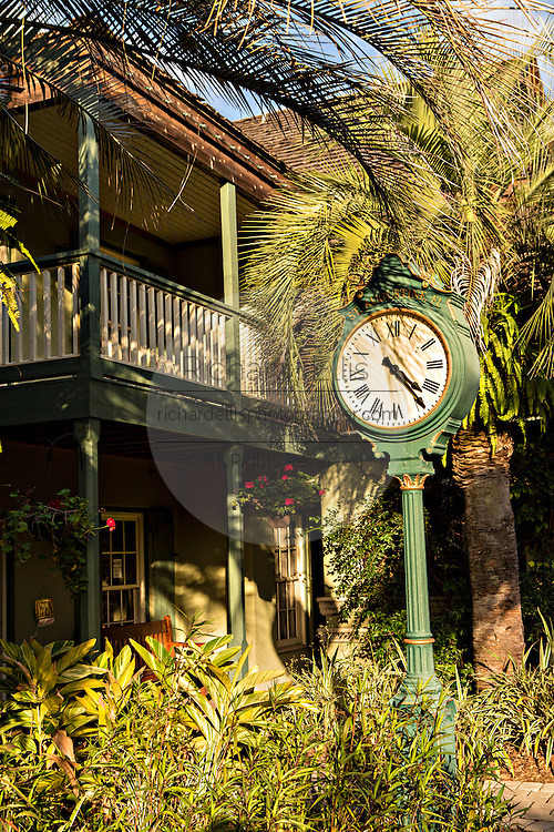 Old home in the historic district in St. Augustine, Florida. St Augustine is the oldest city in America.