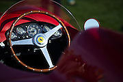August 14-16, 2012 - Pebble Beach / Monterey Car Week. Ferrari steering wheel