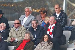 17.04.2011, Allianz Arena, Muenchen, GER, 1.FBL, FC Bayern Muenchen vs Bayer 04 Leverkusen, im Bild der bayern vorstand mit Karl-Heinz Rummenigge (Vorstandsvorsitzender Bayern) Uli Hoene?ü (Pr?§sident Bayern) und Arjen Robben (Bayern #10)  , EXPA Pictures © 2011, PhotoCredit: EXPA/ nph/  Straubmeier       ****** out of GER / SWE / CRO  / BEL ******