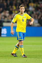 15.10.2013, Friends Arena, Stockholm, SWE, FIFA WM Qualifikation, Schweden vs Deutschland, Gruppe C, im Bild Sverige 8 Anders Svensson, , , Nyckelord , Keywords : football , fotboll , soccer , FIFA , World Cup , Qualification , Sweden , Sverige , Schweden , Germany , Tyskland , Deutschland portr&copy;tt portrait // during the FIFA World Cup Qualifier Group C Match between Sweden and Germany at the Friends Arena, Stockholm, Sweden on 2013/10/15. EXPA Pictures &copy; 2013, PhotoCredit: EXPA/ PicAgency Skycam/ Ted Malm<br /> <br /> ***** ATTENTION - OUT OF SWE *****