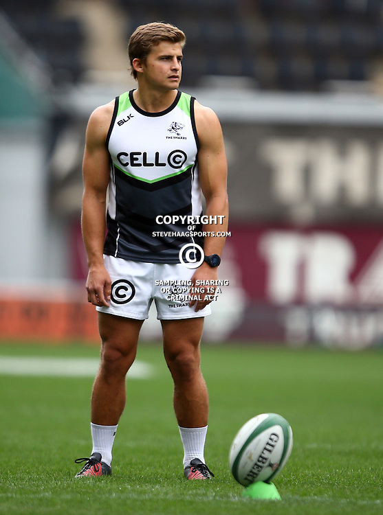 DURBAN, SOUTH AFRICA - SEPTEMBER 09: Patrick Lambie during the Cell C Sharks XV captains run at Growthpoint Kings Park on September 09, 2016 in Durban, South Africa. (Photo by Steve Haag/Gallo Images)