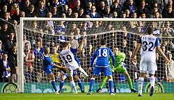 03.11.2011, St. Andrews Stadion, London, ENG, UEFA EL, Gruppe H, Birmingham City (ENG) vs FC Bruegge (BEL), im Bild Club Brugge's Thomas Meunier scores the first goal against Birmingham City // during UEFA Europa League group H match between Birmingham City (ENG) and FC Bruegge (BEL) at St. Andrews , London, United Kingdom on 03/11/2011. EXPA Pictures © 2011, PhotoCredit: EXPA/ Propaganda Photo/ David Rawcliff +++++ ATTENTION - OUT OF ENGLAND/GBR+++++