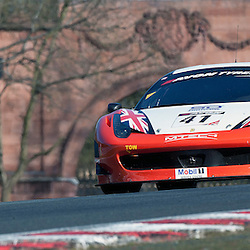 Mtech, Derek Johnston & Julien Draper, Ferrari 458 Italia GT3, GT3 during qualifying and practice at the first round of the Avon Tyres British GT Championship held at Oulton Park, Cheshire, UK on the 30th March 2013 WAYNE NEAL | STOCKPIX.EU