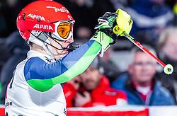 "29.01.2019, Planai, Schladming, AUT, FIS Weltcup Ski Alpin, Slalom, Herren, 2. Lauf, im Bild Zan Kranjec (SLO) // Zan Kranjec of Slovenia reacts after his 2nd run of men's Slalom ""the Nightrace"" of FIS ski alpine world cup at the Planai in Schladming, Austria on 2019/01/29. EXPA Pictures © 2019, PhotoCredit: EXPA/ JFK"