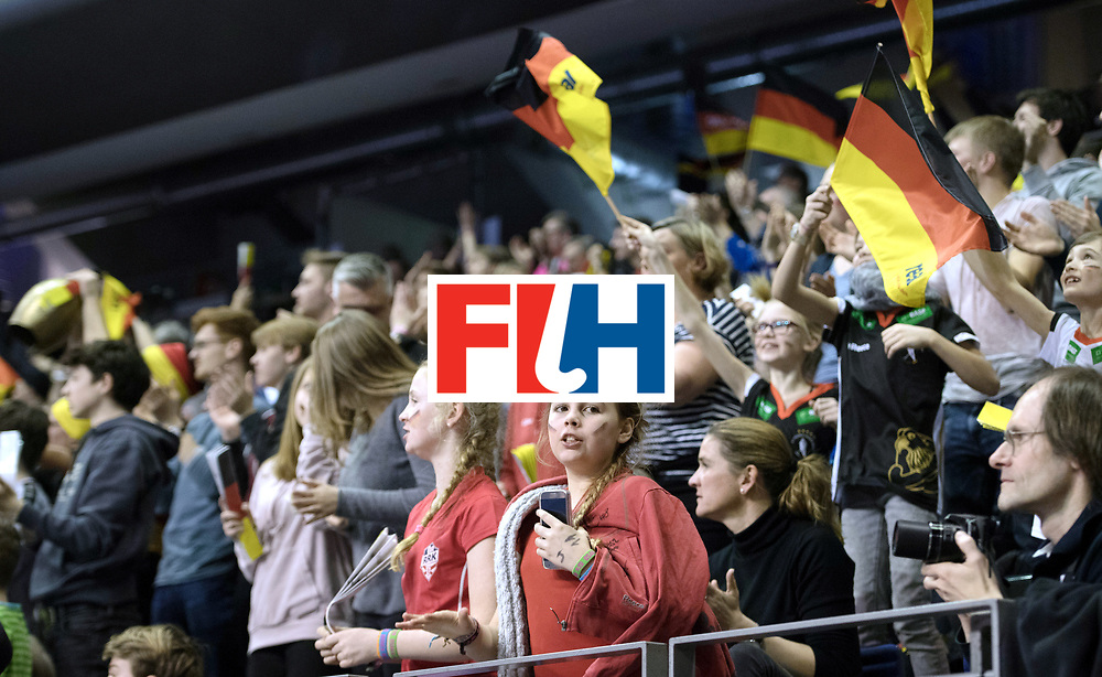 BERLIN - Indoor Hockey World Cup<br /> SF1 Germany - Iran<br /> foto: Fans<br /> WORLDSPORTPICS COPYRIGHT FRANK UIJLENBROEK
