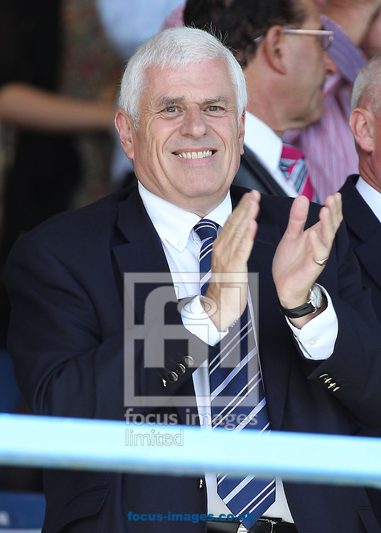 Picture by Michael Sedgwick/Focus Images Ltd +44 7900 363072.08/09/2012.Peter Ridsdale, chairman of Preston North End in the stand before the npower League 1 match against Bury, at Gigg Lane, Bury.