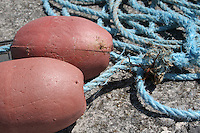 Buoys from fishing boat on the Aran Islands