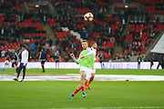 England Midfielder Eric Dier shoots at goal in warm up during the FIFA World Cup Qualifier group stage match between England and Scotland at Wembley Stadium, London, England on 11 November 2016. Photo by Phil Duncan.