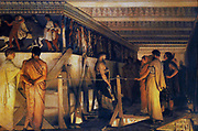 Sir Lawrence Alma-Tadema, Phidias showing the Parthenon Frieze to his Friends, Sir Lawrence Alma-Tadema(8 January 1836 – 25 June 1912) was one of the most renowned painters of late nineteenth-century Britain