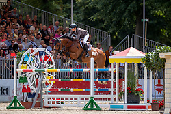 SCHOORNBROODT-DE AZEVEDO Celine (BEL), G. La Numero Uno<br /> Münster - Turnier der Sieger 2019<br /> Preis der SPARKASSE MÜNSTERLAND OST<br /> CSI4* - Int. Jumping competition with one jump-off (1.50 m) <br /> Finale Mittlere Tour<br /> 04. August 2019<br /> © www.sportfotos-lafrentz.de/Stefan Lafrentz
