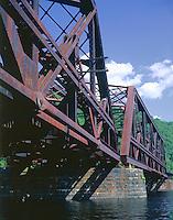 RR Bridge over Connecticut River, South of Brattleboro, VT