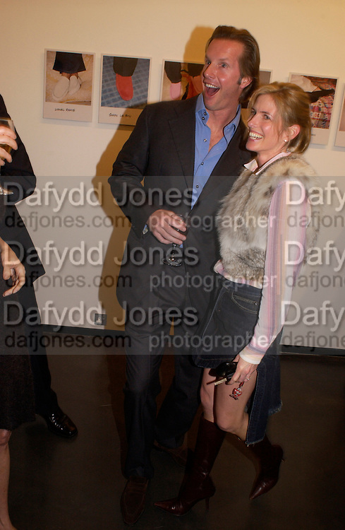 Chris Getty and Brooke de Campo, Matthew Mellon celebrates Famous Feet, Hamiltons Gallery. 22 November 2004. SUPPLIED FOR ONE-TIME USE ONLY> DO NOT ARCHIVE. © Copyright Photograph by Dafydd Jones 66 Stockwell Park Rd. London SW9 0DA Tel 020 7733 0108 www.dafjones.com