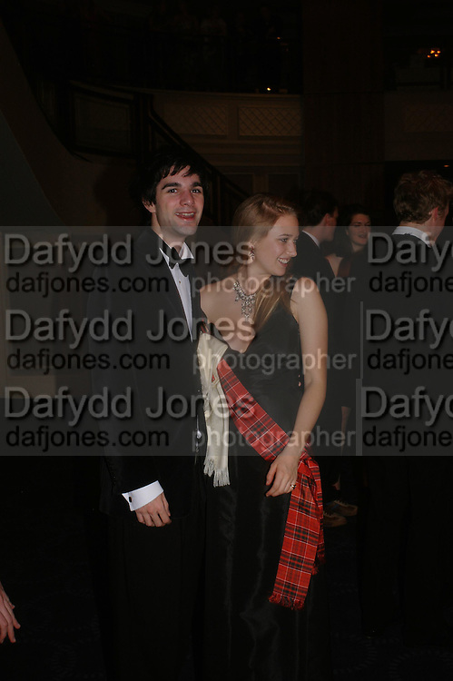 Sebastian Costa and Kryszia de Nahlik. White Knights Ball, Grosvenor House Hotel 7 January 2005. ONE TIME USE ONLY - DO NOT ARCHIVE  © Copyright Photograph by Dafydd Jones 66 Stockwell Park Rd. London SW9 0DA Tel 020 7733 0108 www.dafjones.com