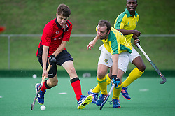Southgate v Indian Gymkhana - Men's Hockey League - Conference East, Trent Park, London, UK on 24 September 2016. Photo: Simon Parker