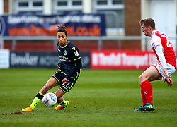 Kyle Bennett of Bristol Rovers passes the ball - Mandatory by-line: Robbie Stephenson/JMP - 02/04/2018 - FOOTBALL - Highbury Stadium - Fleetwood, England - Fleetwood Town v Bristol Rovers - Sky Bet League One
