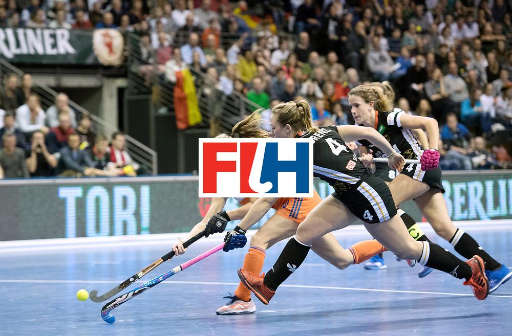 BERLIN - Indoor Hockey World Cup<br /> Final: Netherlands - Germany<br /> foto: Marijn Veen and Nike Lorenz <br /> WORLDSPORTPICS COPYRIGHT FRANK UIJLENBROEK