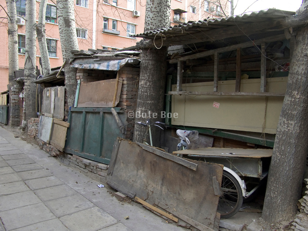 improvised storage between building complex Beijing China