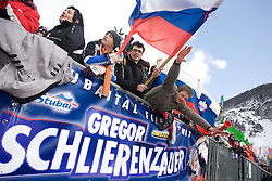 Fans of Gregor Schlierenzauer at Flying Hill Team in 3rd day of 32nd World Cup Competition of FIS World Cup Ski Jumping Final in Planica, Slovenia, on March 21, 2009. (Photo by Vid Ponikvar / Sportida)