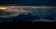Alaska2010.-The sun sets over Denali National Park in Alaska.
