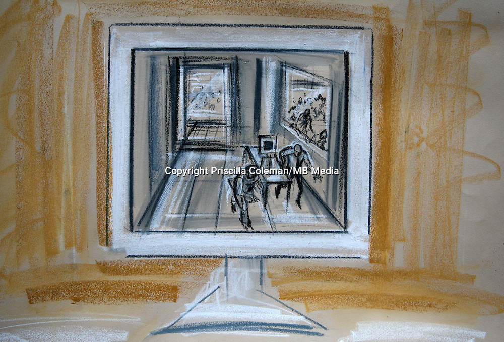 ARTWORK SHOWS:  CCTV IN THE BRITISH MEDICAL ASOCIATION HEADQUARTERS CAPTURES THE MOMENT  A BOMB EXPLODED ON THE NUMBER 26 BUS ON TAVISTOCK SQUARE. MOHAMMED SHAKIL, SADEER SALEEM AND WAHEED ALI  ARE ON TRIAL AT KINGSTON CROWN COURT, FOR ASSISTING THE 7/7 LONDON BOMBERS.
