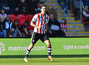 Craig Woodman (3) of Exeter City during the EFL Sky Bet League 2 match between Exeter City and Mansfield Town at St James' Park, Exeter, England on 30 March 2019.