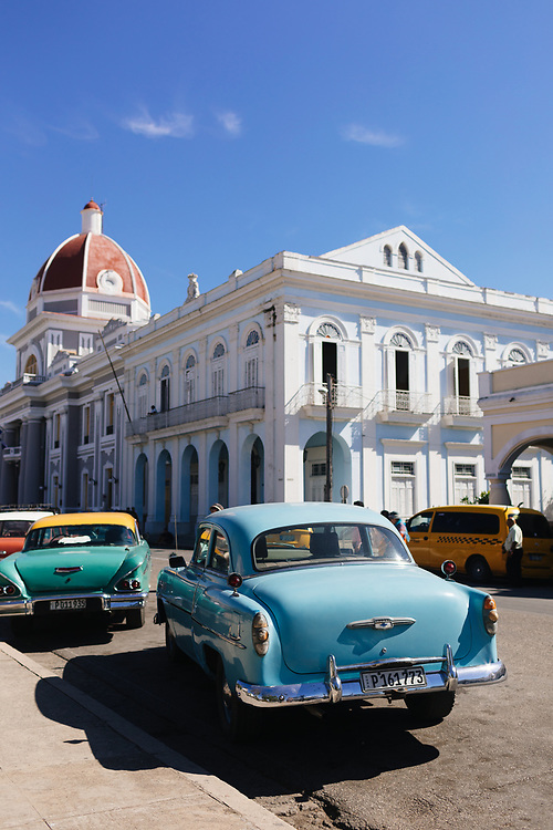 50's cars parked in Cienfuegos, Cuba