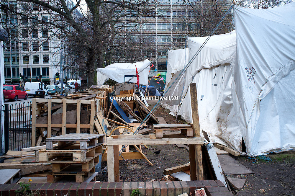 Occupy London Protest in Finsbury Square, Jan 2012