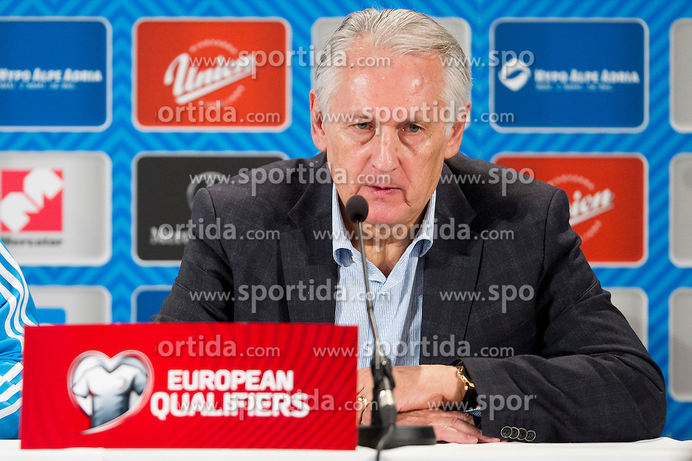 head coach Mykhailo Fomenko (UKR) at press conference after the UEFA EURO 2016 Play-off for Final Tournament, Second leg between Slovenia and Ukraine, on November 17, 2015 in Stadium Ljudski vrt, Maribor, Slovenia. Photo by Urban Urbanc / Sportida
