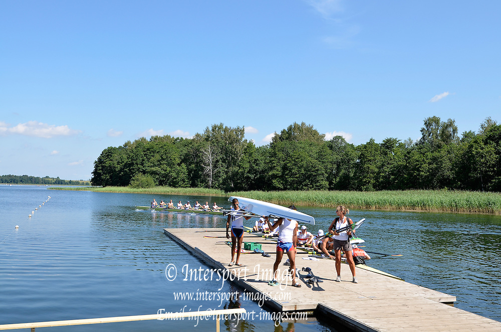 Trackai. LITHUANIA.  General View. GV. Crews training.  Lake Galve. 2012 FISA U23 Rowing Championships, Wednesday 11/07/2012 [Mandatory credit: Peter Spurrier/Intersport Images]..Rowing, U23, 2012.