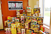 Lady Gaga's foundation, Born This Way, donated 1,130 Mattel toys to the school, one for every students.