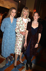 Left to right, MISS DAISY DE VILLENEUVE, JAN DE VILLENEUVE and MISS POPPY DE VILLENEUVE at the Harpers & Queen and Moet & Chandon Restaurant Awards for 2004 held at Claridges, Brook Street, London on 1st November 2004.<br /><br />NON EXCLUSIVE - WORLD RIGHTS
