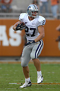 September 29, 2007 - Austin, TX..Wide receiver Jordy Nelson #27 of the Kansas State Wildcats rushes up field against the Texas Longhorns, during a NCAA football game at Darrell Royal-Texas Memorial Stadium on September 29, 2007...FBC:  The Wildcats defeated the Longhorn 41-21.  .Photo by Peter G. Aiken/Cal Sport Media
