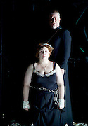 The Force of Destiny <br /> by Verdi <br /> English National Opera and the London Coliseum, London, Great Britain <br /> rehearsal<br /> 6th November 2015 <br /> James Creswell as Father Superior<br /> Tamara Wilson as Donna Leonora di Vargas<br /> <br /> <br /> Photograph by Elliott Franks <br /> Image licensed to Elliott Franks Photography Services