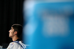 BUENOS AIRES, Oct. 12, 2018  Mohammadali Khosrarvi of Iran reacts during the men's +73kg final of taekwondo event against Lee Meng-En of Chinese Taipei at the 2018 Summer Youth Olympic Games in Buenos Aires, Argentina on Oct. 11, 2018. Mohammadali Khosrarvi won 2-1. (Credit Image: © Li Ming/Xinhua via ZUMA Wire)
