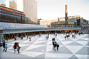 Sergels torg (in English: Sergel's Square), the most central public square in Stockholm, Sweden, named after 18th century sculptor Johan Tobias Sergel, whose workshop was once located north of the square.