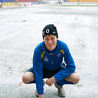 St Johnstone's Murray Davidson hoping the conditions improve to allow Sundays game against Inverness to go ahead, a pitch inspection is planned to take place on Sunday morning ...31.12.10<br /> see story by Gordon Bannerman Tel: 07729 865788<br /> Picture by Graeme Hart.<br /> Copyright Perthshire Picture Agency<br /> Tel: 01738 623350  Mobile: 07990 594431