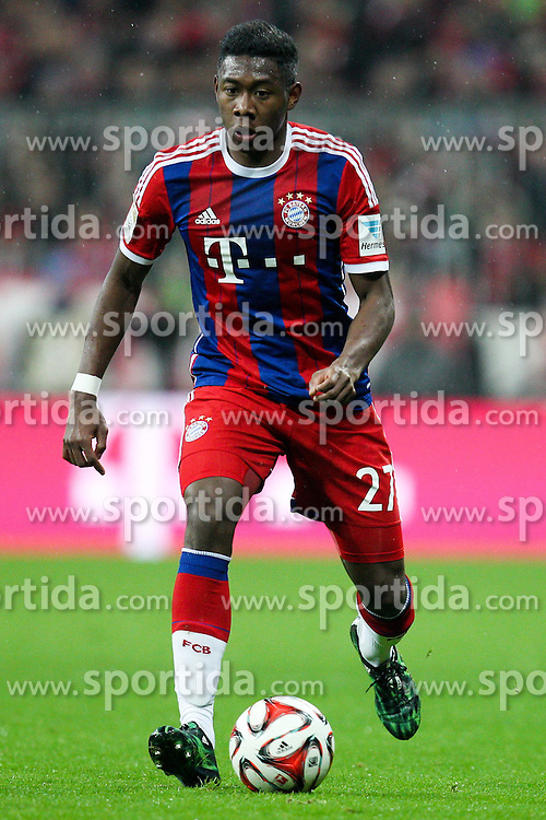 27.02.2015, Allianz Arena, Muenchen, GER, 1. FBL, FC Bayern Muenchen vs 1. FC K&ouml;ln, 23. Runde, im Bild David Alaba #27 (FC Bayern Muenchen) // during the German Bundesliga 23rd round match between FC Bayern Munich and 1. FC K&ouml;ln at the Allianz Arena in Muenchen, Germany on 2015/02/27. EXPA Pictures &copy; 2015, PhotoCredit: EXPA/ Eibner-Pressefoto/ EXPA/ Kolbert<br /> <br /> *****ATTENTION - OUT of GER*****
