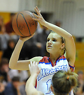 Mapleton vs. HIllsdale girls varsity basketball on February 24, 2011.