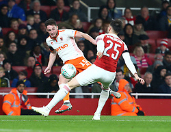 October 31, 2018 - London, England, United Kingdom - London, UK, 31 October, 2018.Blackpool's Jordan Thompson.During Carabao Cup fourth Round between Arsenal and Blackpool at Emirates stadium , London, England on 31 Oct 2018. (Credit Image: © Action Foto Sport/NurPhoto via ZUMA Press)