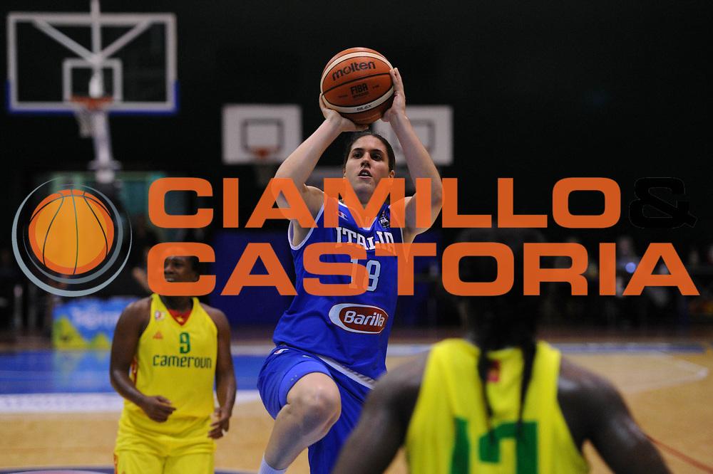 Roma 03.06.2016<br /> Basket Nazionale Italiana Femminile<br /> Torneo  Internazionale di Pomezia<br /> <br /> Italia - Camerun<br /> <br /> Nella foto: Gaia Gorini