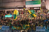 2020-01-17 | Umeå, Sweden:IF Björklöven supporters in  HockeyAllsvenskan during the game  between Björklöven and Timrå at A3 Arena ( Photo by: Michael Lundström | Swe Press Photo )<br /> <br /> Keywords: Umeå, Hockey, HockeyAllsvenskan, A3 Arena, Björklöven, Timrå, mlbt200117
