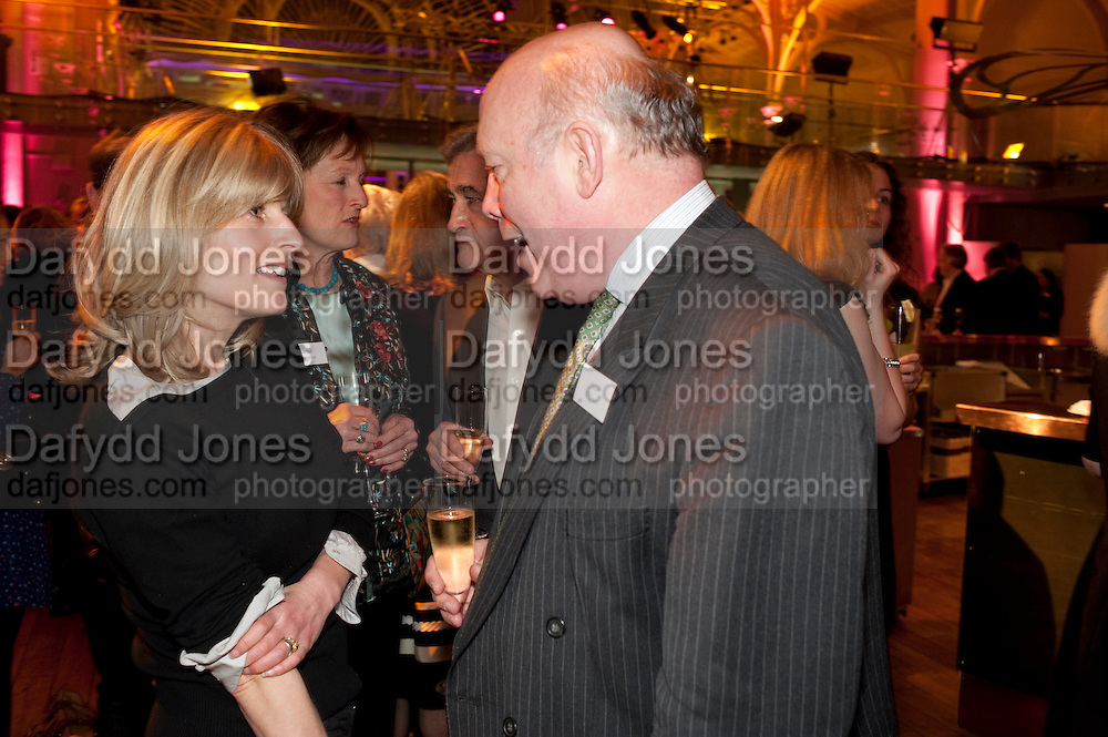 RACHEL JOHNSON; RACHEL BILLINGTON; JULIAN FELLOWES, Orion Authors' Party,  Royal Opera House, Covent Garden, London. 15 February 2011. <br /> -DO NOT ARCHIVE-© Copyright Photograph by Dafydd Jones. 248 Clapham Rd. London SW9 0PZ. Tel 0207 820 0771. www.dafjones.com.