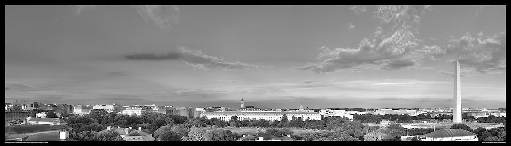 Panoramic View of Washington, DC.  Includes The Capitol, Washington Monument, Smithsonian Mall, The White House, among other Washington, DC landmarks and Washington, DC Monuments. Print Sizes (inces): 15x4.5; 24x7; 36x10.5; 48x14; 60x17; 72x21