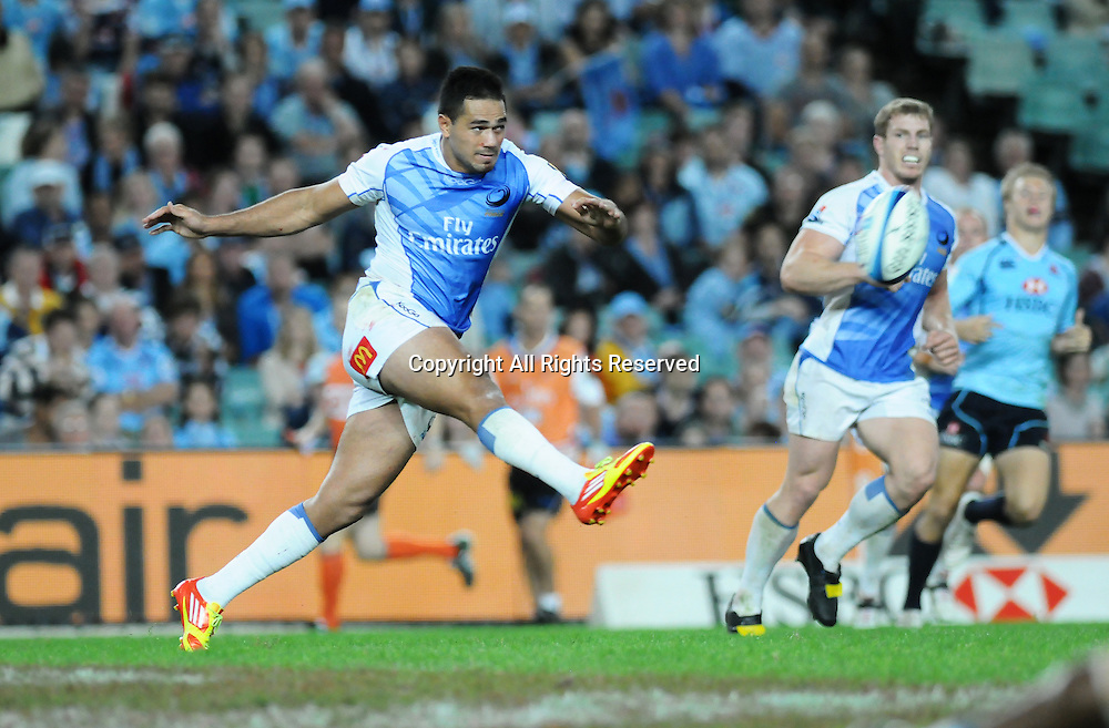 17.03.2012 Sydney, Australia. Force Tongan centre Alfie Mafi in action during the FxPro Super Rugby game between the New South Wales Waratahs  and Western Force at the Allianz Stadium,Sydney.