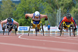 06/08/2017; Ristiranta, Niko, T54, FIN, Agnew, Jack, GBR, Wakiyama, Riku, JPN at 2017 World Para Athletics Junior Championships, Nottwil, Switzerland