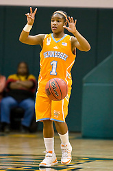 December 22, 2009; San Francisco, CA, USA;  Tennessee Lady Volunteers guard Briana Bass (1) during the second half against the San Francisco Dons at War Memorial Gym.  Tennessee defeated San Francisco 89-34.