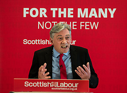 Pictured: Richard Leonard speaking at the announcement of his deputy leader meeting.<br /> <br /> Scottish Labour leader Richard Leonard announced his new deputy leader, Fife MP Lesley Laird, at a speech in Glasgow.<br /> <br /> © Dave Johnston/ EEm