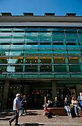 Germany, Freiburg , shopping center nel centro pedonale con pannelli solari nella facciata......Germany, Freiburg, shopping center in the pedestrian area in the center of the old town. solar panel on its front
