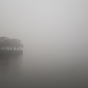 A foggy morning at the Washington, D.C. Tidal Basin.